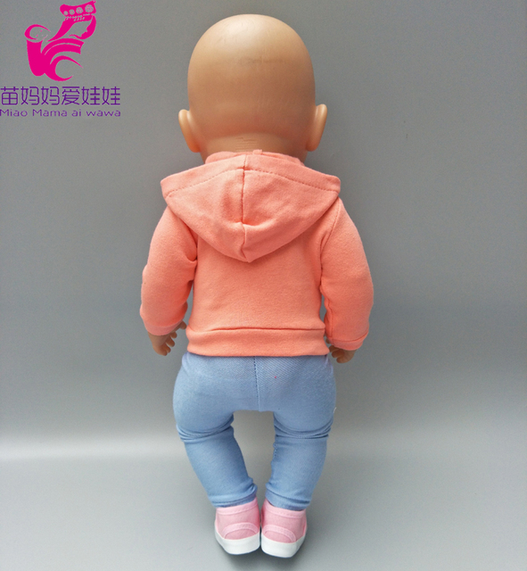 Doll clothes 18 inch doll coat sport outfit set Fit for 43cm Baby Doll clothes dress Wear children gifts