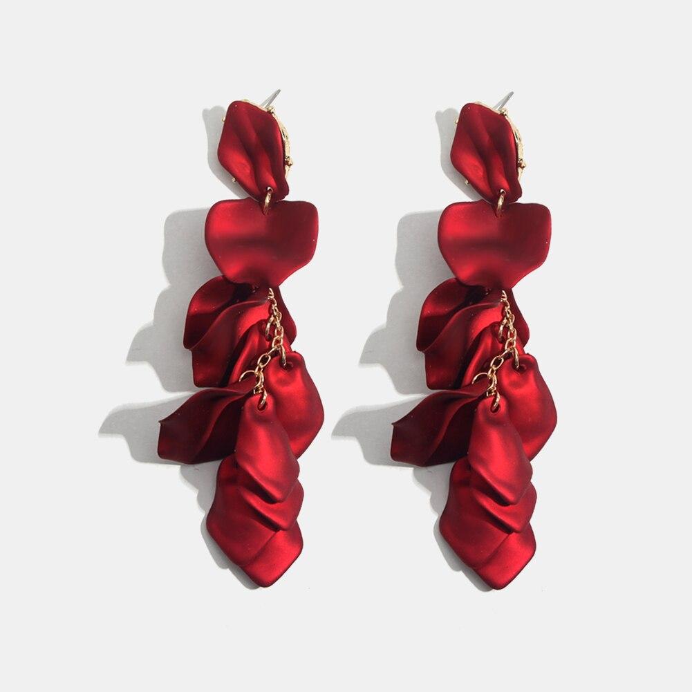 Flatfoosie Fashion Acrylic Resin Drop Earrings For Women Vintage Geometric Long Dangle Statement Earrings Wedding Party Jewelry 29