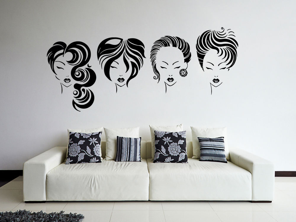 Popular Hair Salon Vinyl Wall Decal Hot Sexy Girls Hairstyle - Custom vinyl wall decals for hair salonvinyl wall decal hair salon stylist hairdresser barber shop