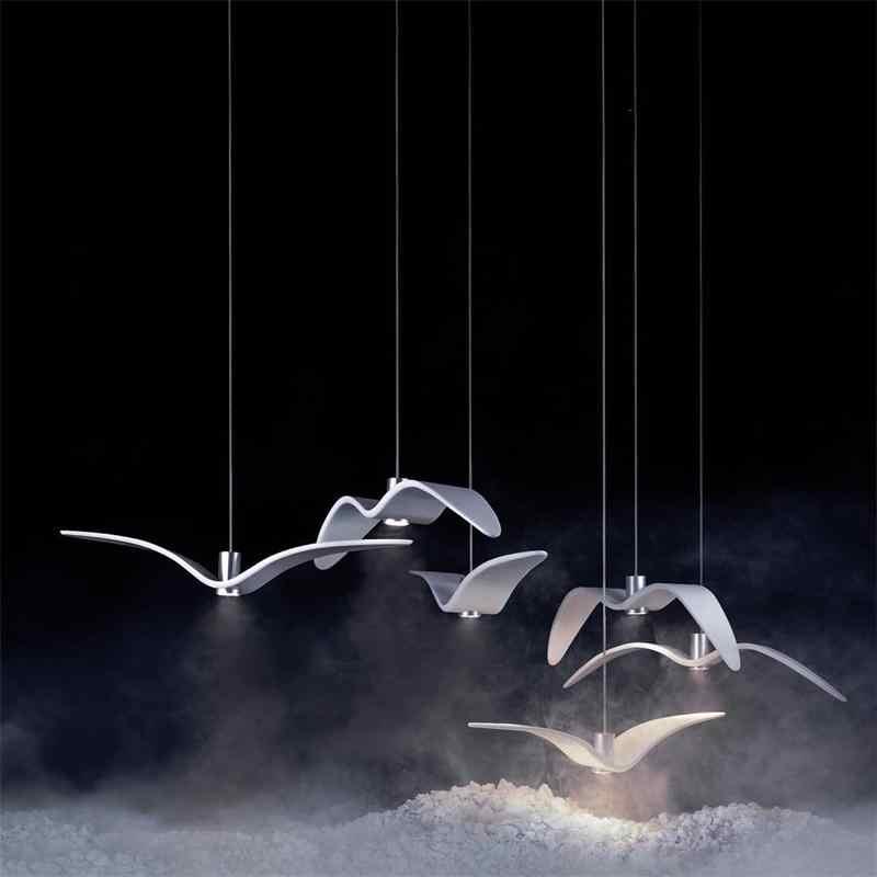 Seagull Bird Pendant Lights Resin