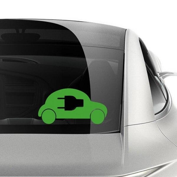 Energy Saving Electric Car Symbols Sticker Vinyl Car Decoration Home Decor Easy To Apply Removable Durable