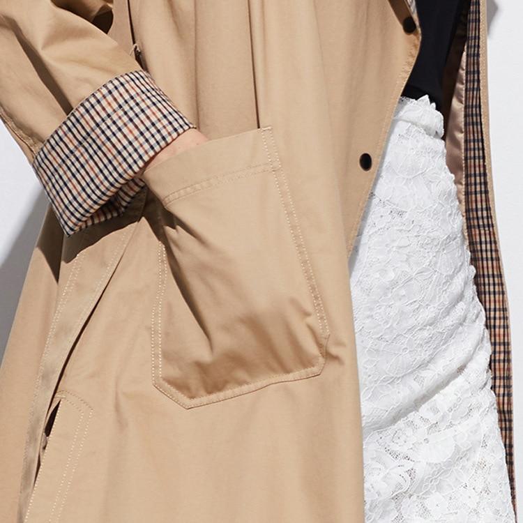 Kadın Giyim'ten Siper'de 2019 ilkbahar ve sonbahar uzun Avrupa ve Amerikan rahat rüzgarlık kadın ceketi'da  Grup 2