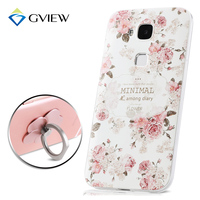 High Quality 3D Relief Print Soft TPU Back Cover Case For Huawei G8 GX8 G7 Plus