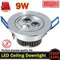 9 Вт AC85V-265V 110 В / 220 В из светодиодов потолочный светильник встраиваемые из светодиодов бра прожектор с из светодиодов водителем для домашнего освещения
