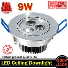 9W AC85V-265V 110V / 220V LED Ceiling Downlight Recessed LED Wall lamp Spot light With LED Driver For Home Lighting