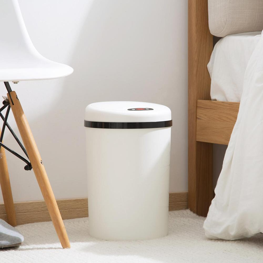 Image 2 - Large Automatic Sensor Dustbin Sensor Trash Can Induction Waste  Bin PP Plastic Eco friendly Dustbin Household Trash BinWaste Bins   -