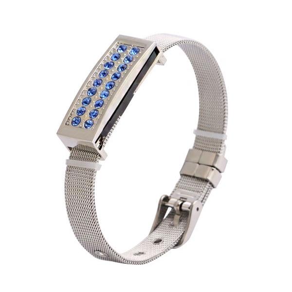 Blue Bracelet USB2.0 8gb 16gb 32gb 64gb Jewelry Crystal Metal Usb Flash Drive Bulk Flash Memory Stick Pendrive 64gb Usb Key Gift