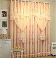Элегантный розовый принт Гостиная Шторы, романтической свадьбы потолочный Аксессуары, современные Blackout Шторы для, 2 панели