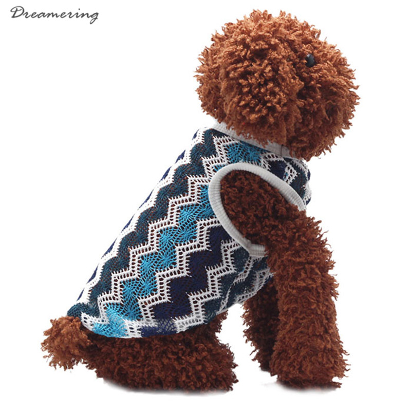 Good Quality Breathable Net Fabric Dog Clothing Vest T-shirt Poodle Vest High Quality Hot Sale Free Shipping J 26
