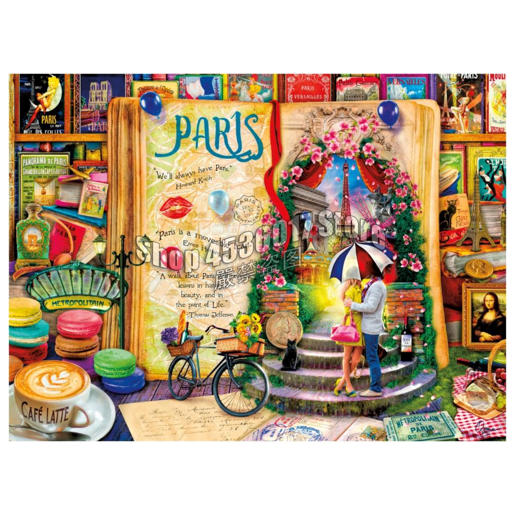 5D Diy Diamond Painting Cross Stitch Diamond Embroidery Life Is An Open Book Paris Pattern Hobbies Crafts Diamond Mosaic Kits in Diamond Painting Cross Stitch from Home Garden