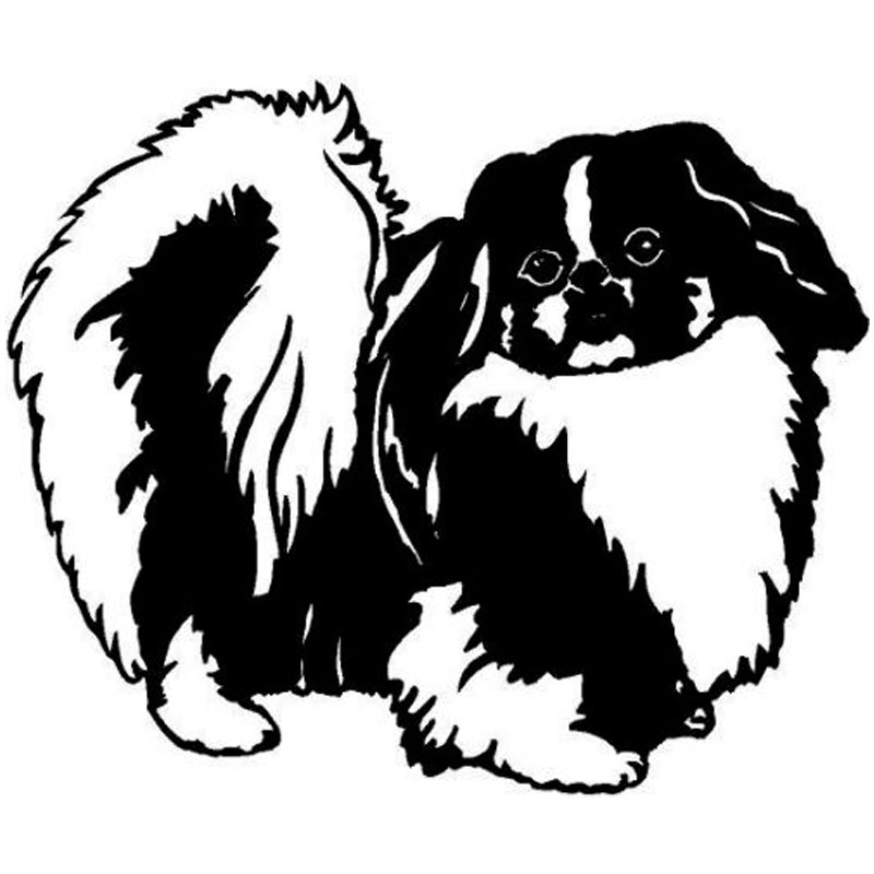 15.2*12.6CM Pekingese Dog Car Stickers Lovely Vinyl Decal Car Styling Accessories Decoration Black/Silver S1-0610