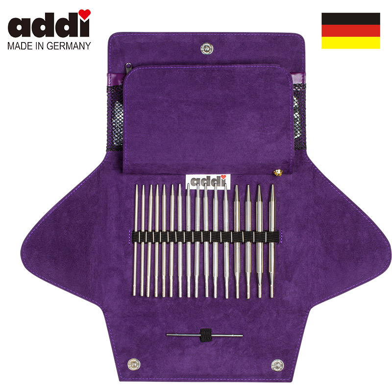 AddiClick  Interchangeable Needle Set Circular Knitting Needles And Crochet Hooks Handcraft Tools Set 680-2