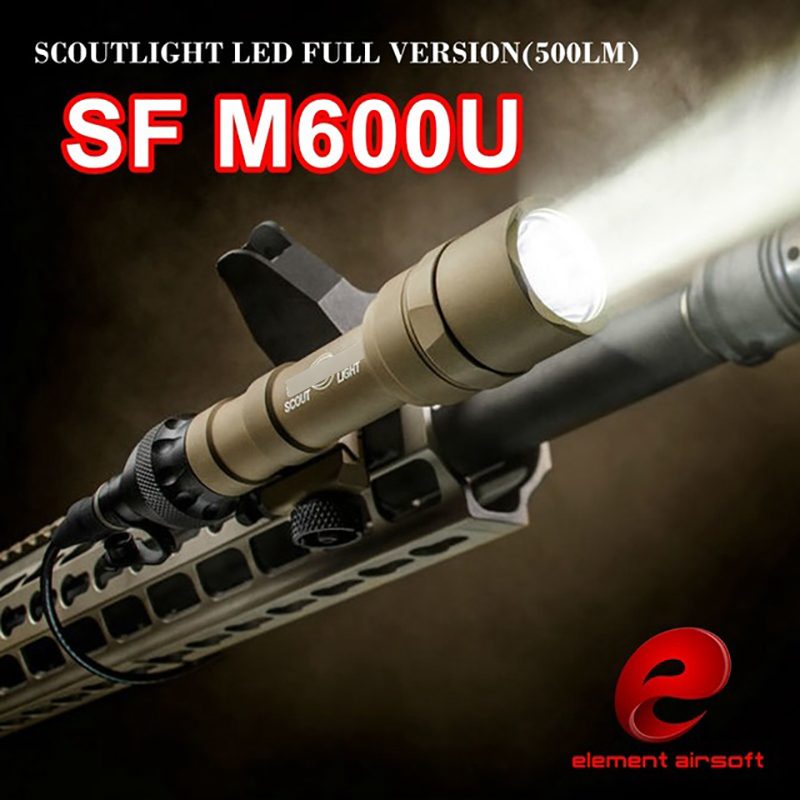 Element Airsoft M600U Scout light LED CREE LED XP-G R5 Pistol Flashlight Full Version Hunting Waterproof Light