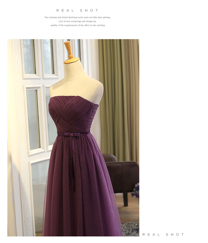 SOCCI Weekend Strapless Purple Long Evening Dress Charming Tulle Burgundy Evening Gown Formal Wedding Reception Vestido de Longo 7