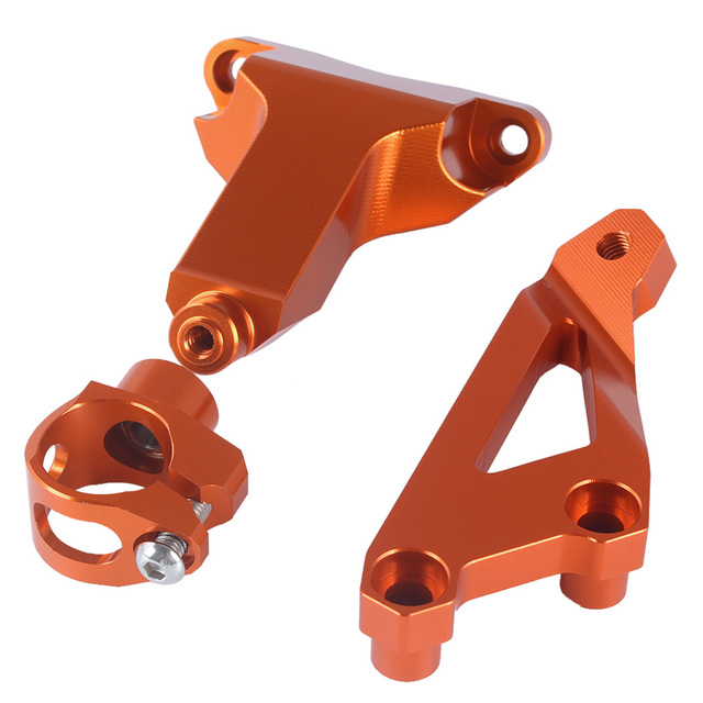 Motorcycle CNC Aluminium Steering Stabilizer Damper Mounting Bracket Holder For 2013-2016 KTM Duke 125 200 390 2014 2015 13-16