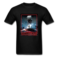 Casual Short Sleeve 100 % Cotton Star Wars Battlefront AT-AT Sith Edition Men t-shirt Teenage t shirts Cheap Sale