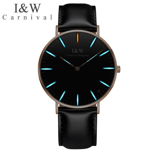Carnival T25 Tritium Luminous Watch Men Fashion Sports Mens Watches Top Brand Luxury Waterproof Clock Saat relogio masculino