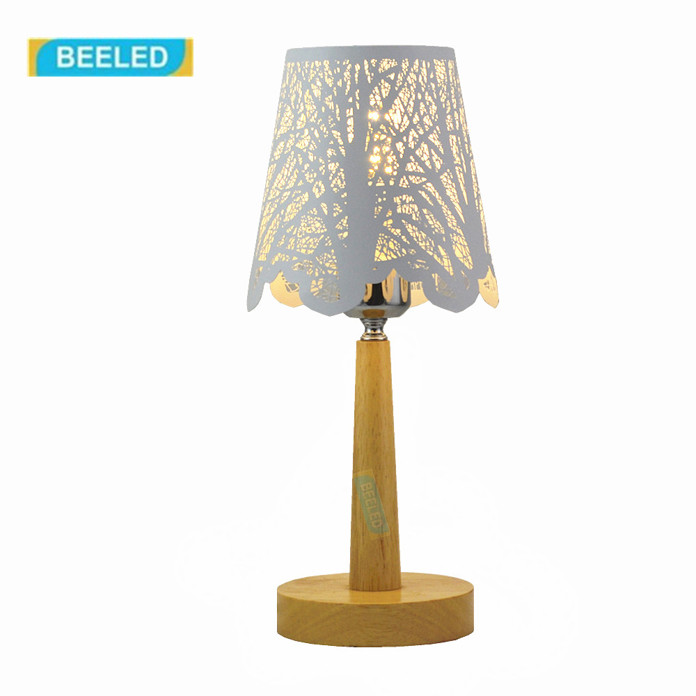 Table lamp for living room Table lamps for bedroom Night light White lampshade Wood lamp Home decorations for living room fumat stained glass table lamp high quality goddess lamp art collect creative home docor table lamp living room light fixtures