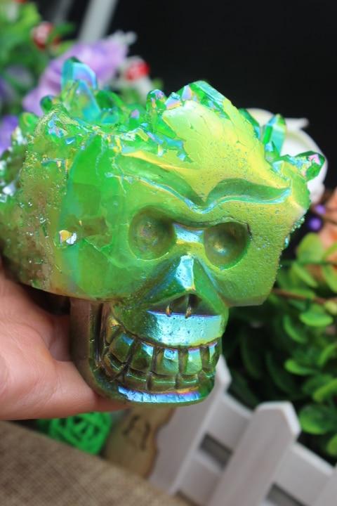 938 grams of natural quartz crystal cluster green angel sculpture bone healing      A888938 grams of natural quartz crystal cluster green angel sculpture bone healing      A888