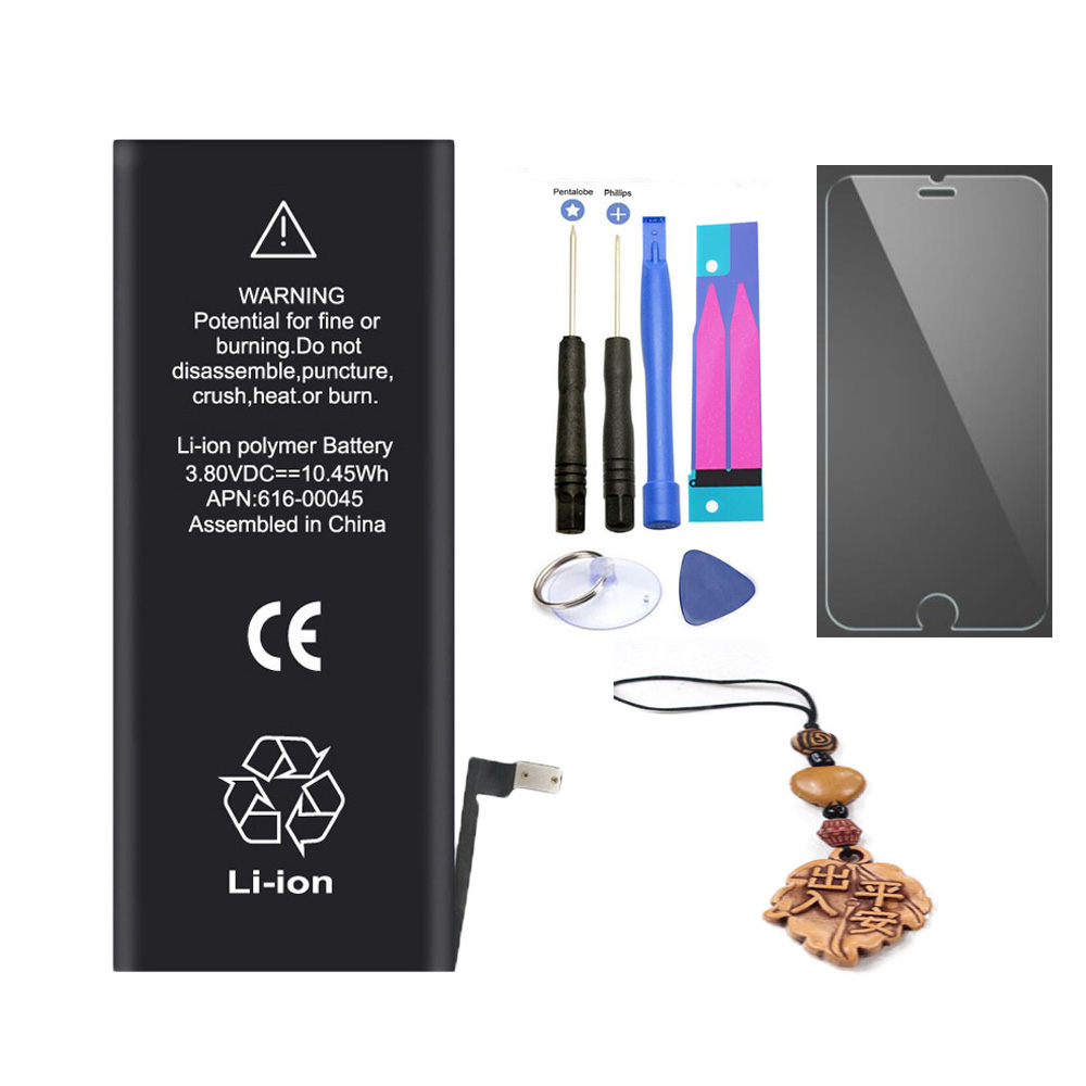 ISUN Phone Battery For Iphone 6S Plus 6SPlus 2750mAh Smartphone batteries Tempered Screen +Repair Tools