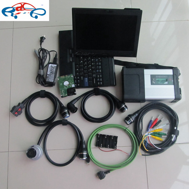 Flash Promo 2018.07v Super MB Star C5 Sd Connect with HDD Software 320gb SD C5 Diagnostic Tool with touch screen X200T 2g Laptop ready use