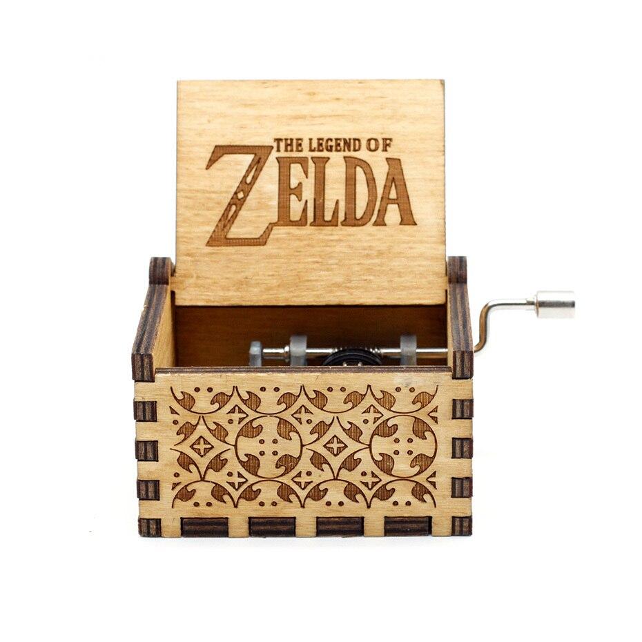 Деревянная музыкальная шкатулка с коленчатым коленом Красавица и Чудовище Звездные войны остров принцесса для Рождества с днем рождения подарок детям подарок - Цвет: Zelda