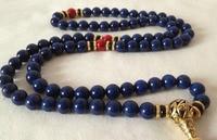 tibet tibetan turquoise buddhist buddha worry prayer bead mala Necklace