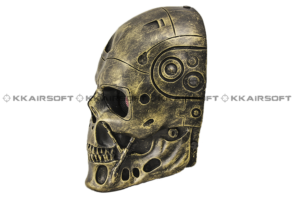 Terminator T-800 Paintball Airsoft Wire Mesh Full Face Mask (Copper) Bd8870a