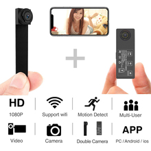 цена на HD 1080p P2P Mini Wireless IP Camera Dual Lens Remote View Micro Camcorder with Motion Record Mini DV Camera hidden TF card
