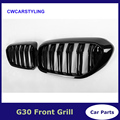 1 пара для BMW G30 передняя решетка 5 серий G30/G38 почечный гриль 2-Slat ABS глянцевый черный новый 4-дверный седан автомобильный Стайлинг 2017 2018