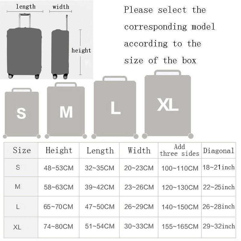 REREKAXI стильный чемодан чехол для багажа 18-32 дюймов Дорожная сумка на колесах эластичная Защитная крышка чехол для багажника Чехлы для путешествий аксессуары