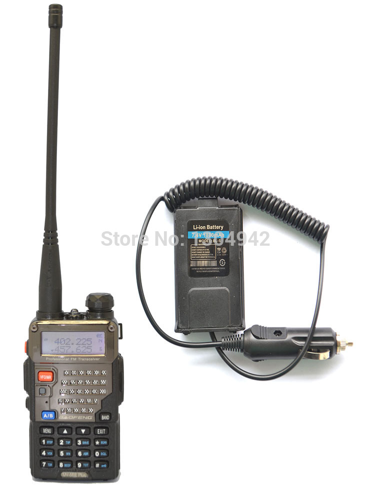 BAOFENG UV-5RE PLUS VHF/UHF Dual Band Walkie Talkie +Original Battery Eliminator Handy Hunting Radio Receiver With Headfone