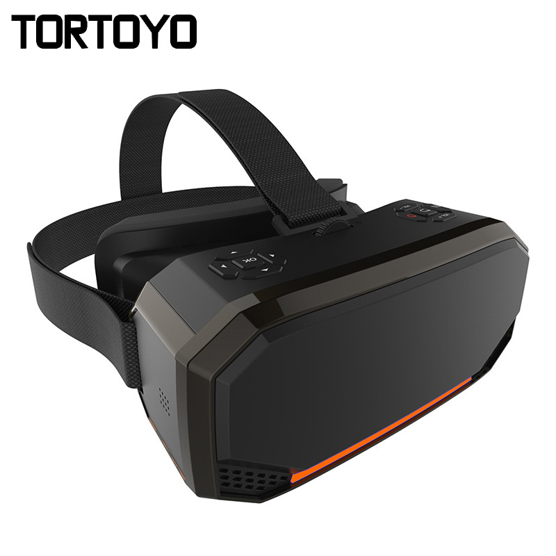 Intelligent Tête de La Réalité Virtuelle Montage 2 k 2560*1440 HD Écran Tout en Un VR Lunettes 3D WIFI Privé théâtre Film Jeu Stéréo Casque