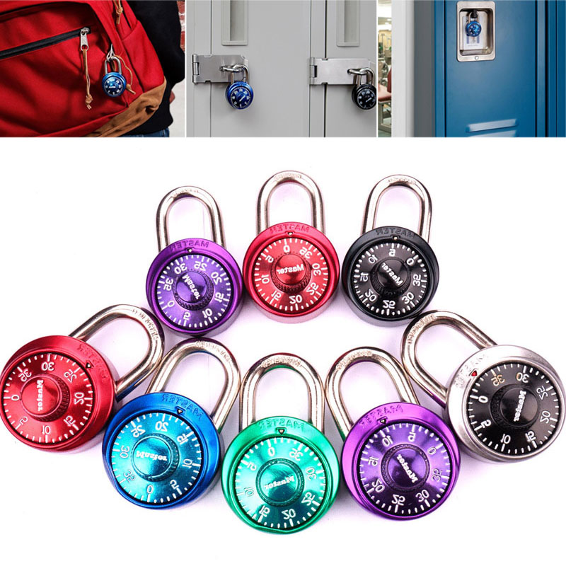 Portable Turntable Lock Gym School Health Club Combination Password Directional Padlock Locker Door Locks --M25 title=