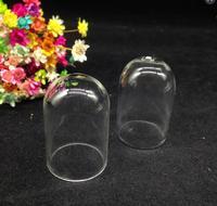 300 pz 38*25mm All'ingrosso copertura in vetro trasparente cupola cloche Pendente della bottiglia di Vetro fiala di vetro tubo di vetro collana globo gioielli fai da te