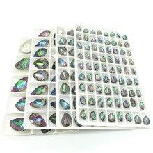 Wholesale Lots Colors Teardrop Resin Rhinestone Loose Beads Jewelry Making 7X10mm 10x14mm 13x18mm 18x25mm DIY new