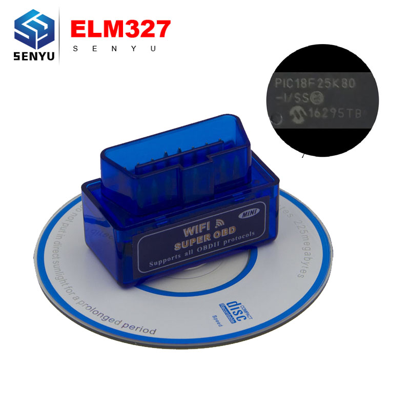 Prix pour Super MINI WIFI ELM327 V1.5 OBD OBD2 SCANNER ELM 327 V1.5 WIFI OBD2 OBDII ELM327 lecteur de Code pour IOS/Android couple