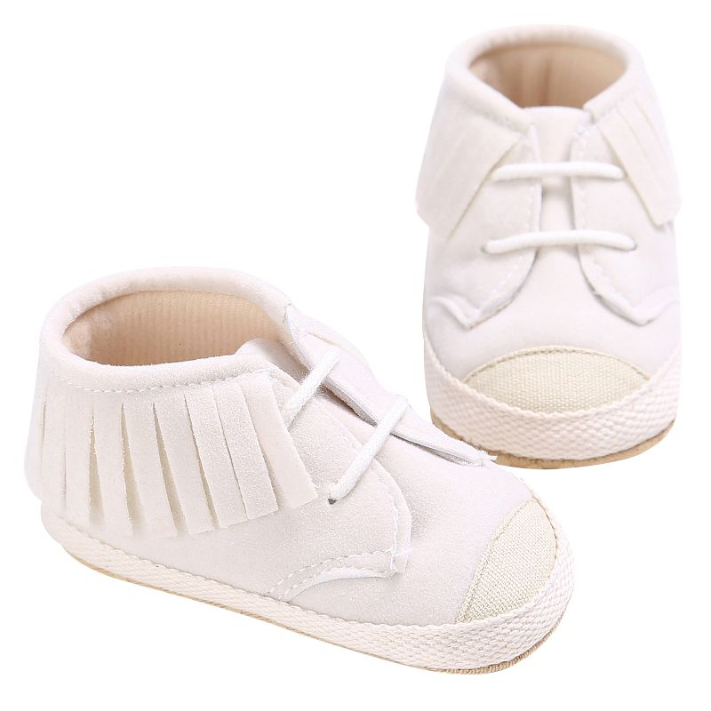 Fashion Infant Baby Boys Girls Tassel Solid Color Soft Sole Toddler Kids First Walkers Shoes