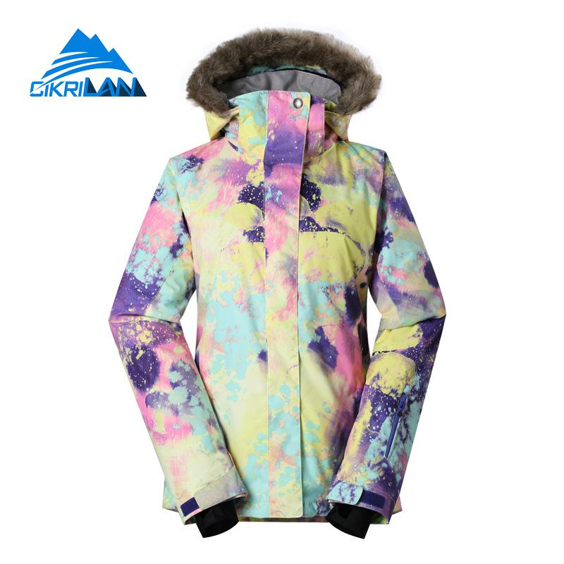 Ladies Winter Warm Outdoor Waterproof Windbreaker Padded Coats Snowboard Chaqueta Mujer Ski Jacket Women Hiking Camping Jackets 2016fleece waterproof softshell jacket women outdoor chaqueta impermeable mujer long hiking jackets windstopper hunting clothes