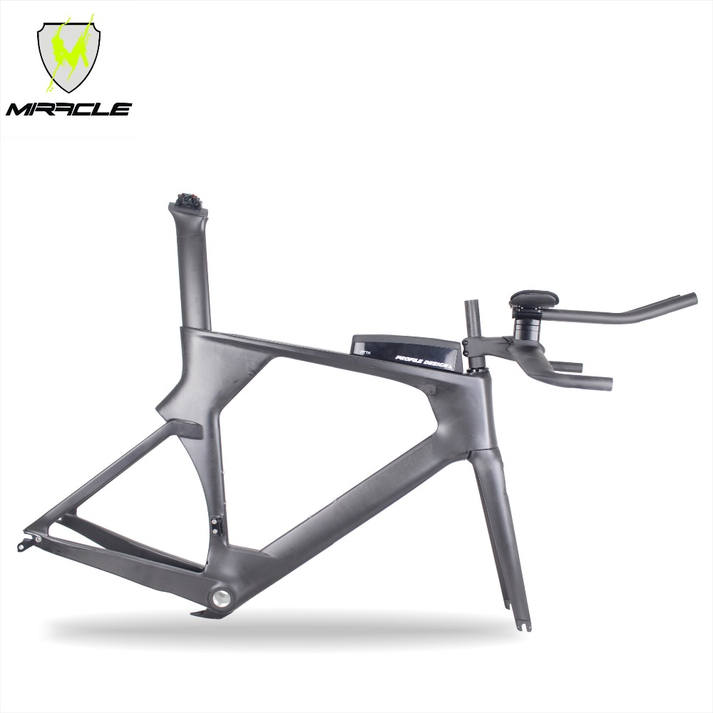 High Quality Full Carbon Fiber Time Trial Bicycle Frame,Warranty 2 Years Carbon TT Bike Frame Fork Seat Post And Handle Bar