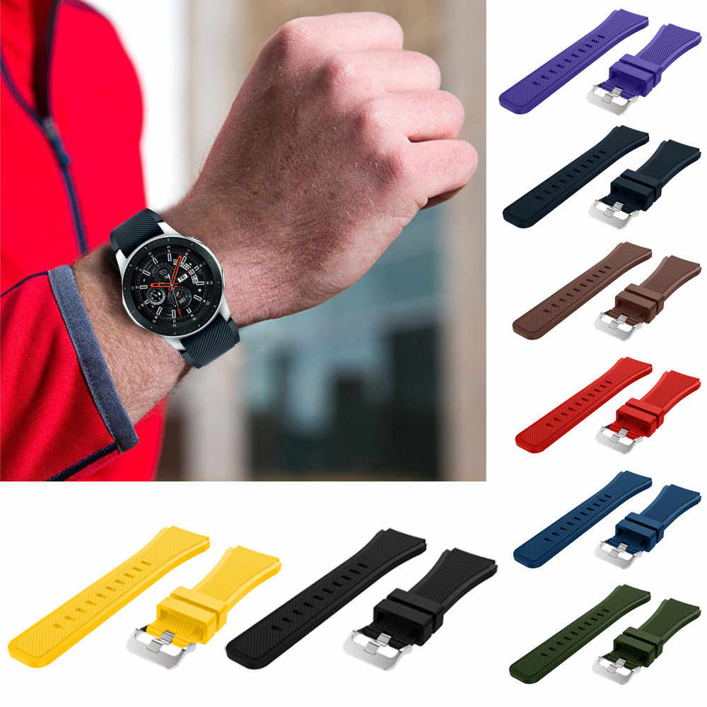 46mm Soft Silicone Watch Band Replacement Band Strap For Samsung Galaxy Watch