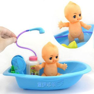 shipping baby bathe toys baby dolls big bathtub comb duck mother best