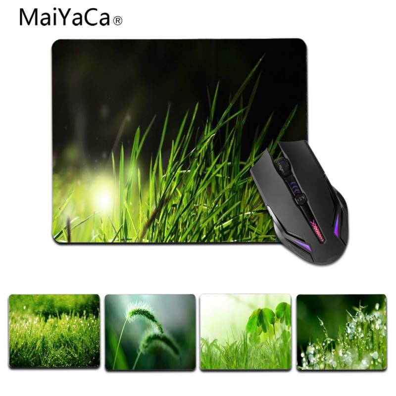 MaiYaCa Simple Design Green theme Customized laptop Gaming small mouse pad Size for 180x220x2mm and 250x290x2mm Small Mousepad