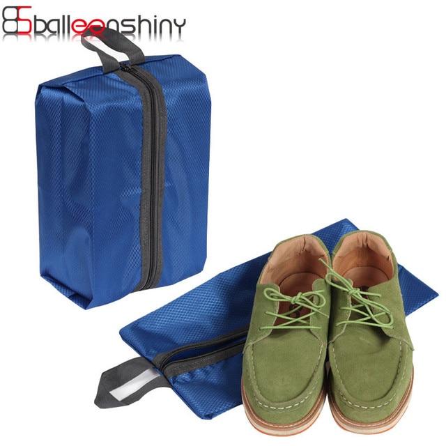 BalleenShiny Portable Waterproof Shoe Bag Multi-function Travel Tote Storage Case Zipper Toiletry Makeup Storage Pouch Organizer