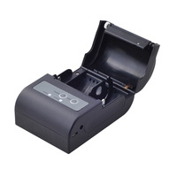 New Mini USB+Bluetooth Thermal Printer Mobile 58mm portable ticket receipt support ESC/POS have protection case printer