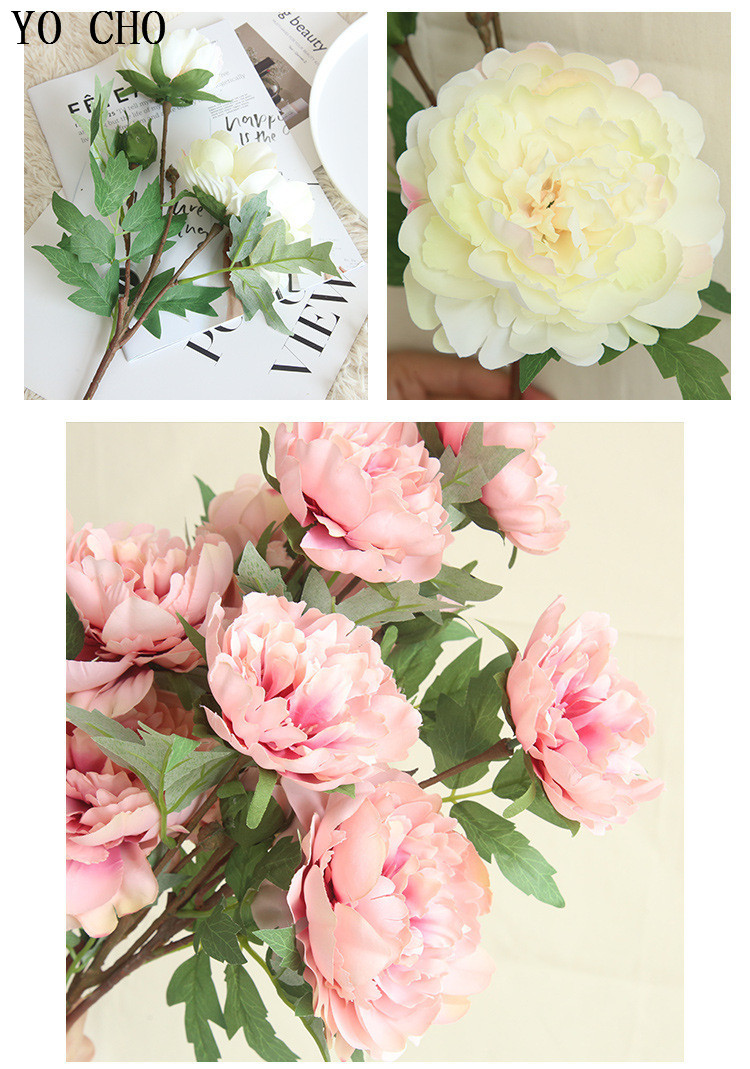 Chinese national flower peonies  simulation big peony flowers for home, living room, bedroom, party,wedding,hotel,shopwindow  decoration arranging flower accessories for christmas new year Halloween Thanksgiving Anniversari (4)