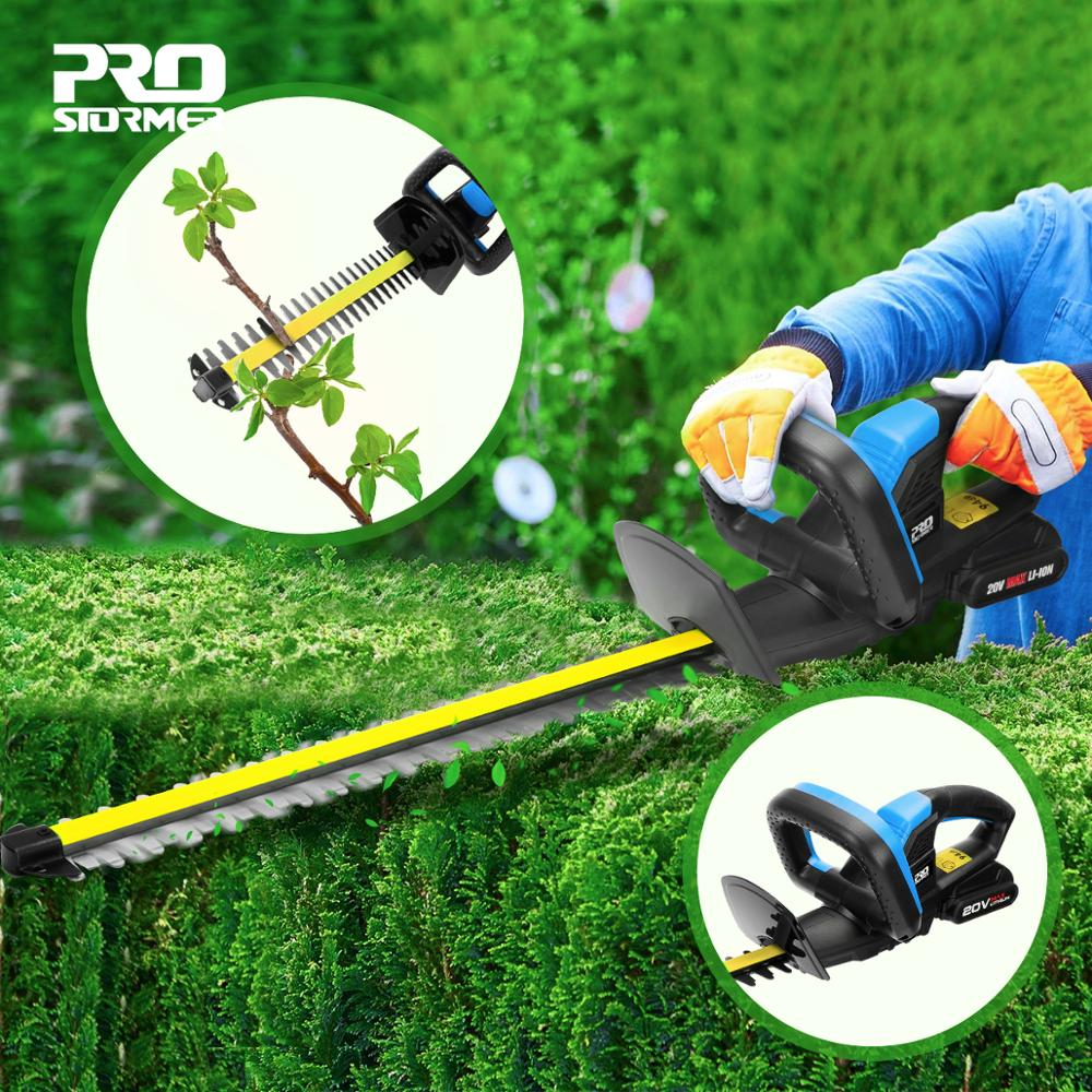 PROSTORMER Electric Hedge Trimmer Pruning Shears 20V Cordless 2000mAh Rechargeable Weeding Hedge Household Mower Garden Tools