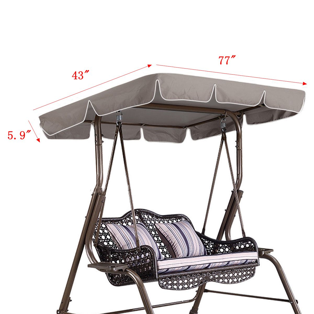 77 X43 X5 9 Waterproof Swing Chair Awning Top Cover
