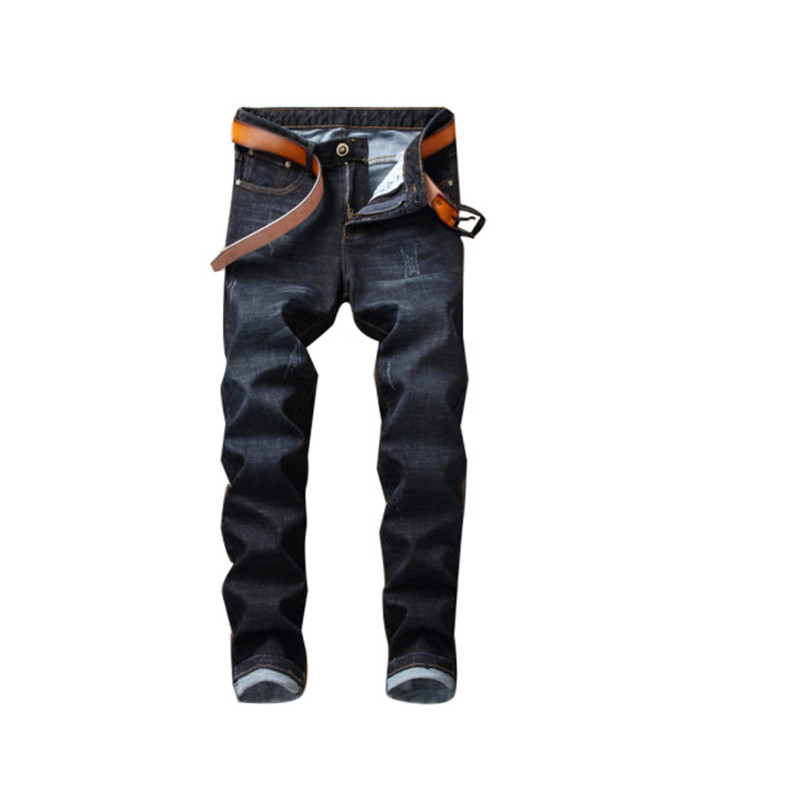 Envmenst Men Jeans Ripped Slim Fit Pencil Pants Resilience Skinny Male Pockets Jeans For Men