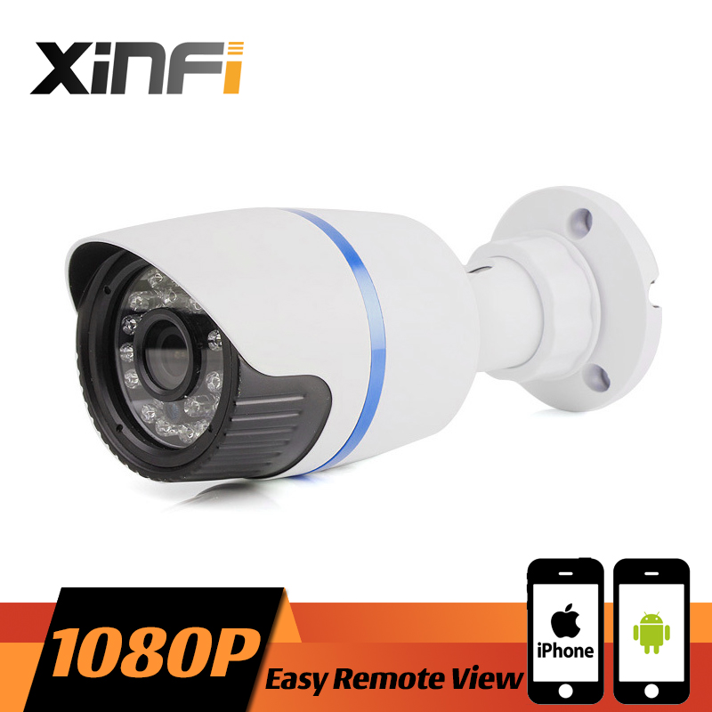 XINFI HD 1080P CCTV IP camera 2MP night vision Outdoor Waterproof network camera ONVIF Remote view With 12V adapter as gift